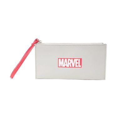 Billetera mujer con cierre Marvel, Mediana, Gris