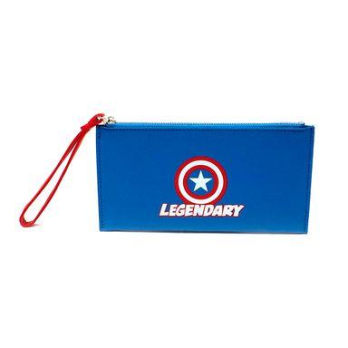 Billetera mujer con cierre Capitán América Marvel, Mediana, Multicolor