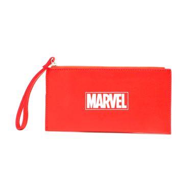 Billetera mujer con cierre Marvel, Mediana, Roja