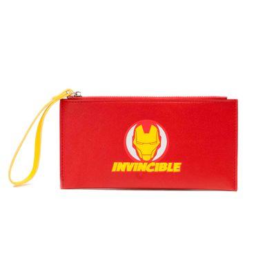 Billetera mujer con cierre Iron Man Marvel, Mediana, Multicolor