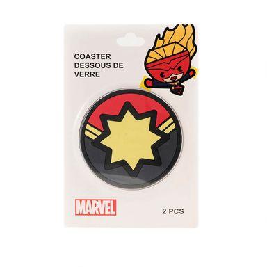 Set portavasos x2 Capitana Marvel, Pequeños, Multicolor