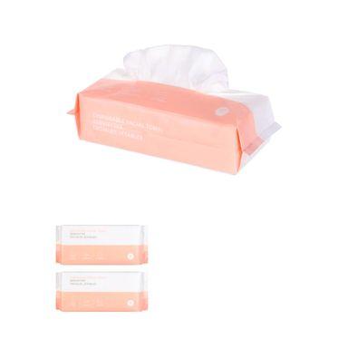 Pañuelos faciales algodón x80 piezas, Pequeño, Blanco