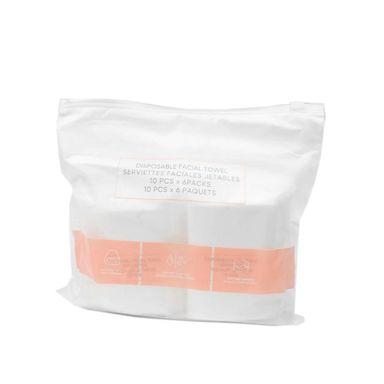 Paquete de pañuelos faciales algodón, Mediano, Blanco