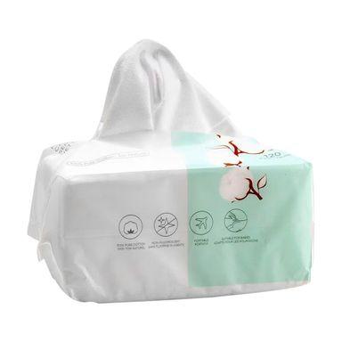 Pañuelos faciales algodón x120 piezas, Pequeño, Blanco