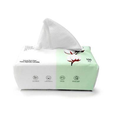 Pañuelos faciales de algodón nacarado x100 piezas, Mediano, Blanco