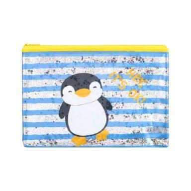 Cartuchera De Pingüino, Penguin Series, Mediana, Azul