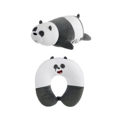 Almohada Para Viaje, Ajustable 2 en 1 Panda, Osos Escandalosos, Mediano, Blanco