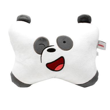 Almohada de peluche forma de hueso Panda We Bare Bears, Mediana, Multicolor