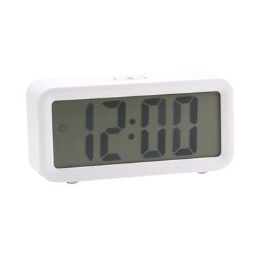 Reloj despertador digital moderno, Pequeño, Blanco