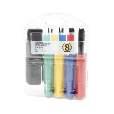 Set de destornilladores con 8 piezas, Mediano, Multicolor