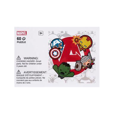 Rompecabezas 4 diseños 60 piezas Marvel, Grande, Letra