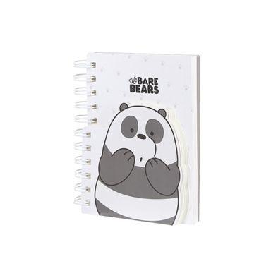 Cuaderno de espiral 170 hojas We Bare Bears, Mediano, Blanco