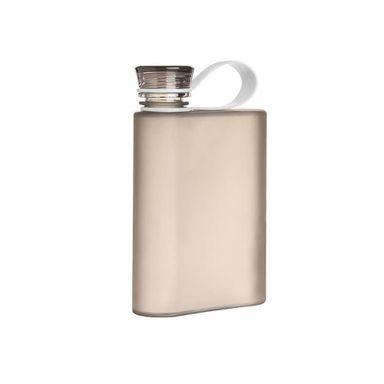 Botella De Plástico, Cuadrada 380 ML, Pequeña, Negro