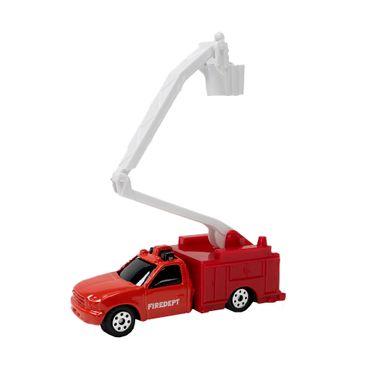 Carro de juguete Camión grúa 1:64, Mediano, Rojo y blanco