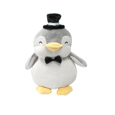 Peluche de Pingüino matrimonio, Pequeño, Gris