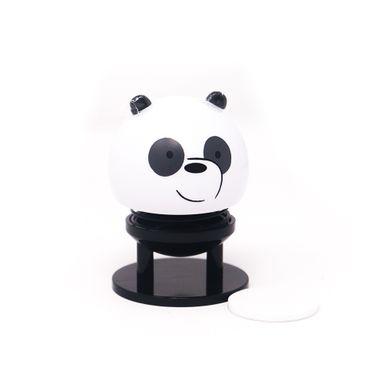 Figura De Resorte Para Auto, Osos Escandalosos Panda, Pequeño, Blanco/Negro