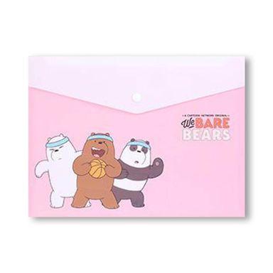 Paquete de 2 carpetas forma sobre A4 We Bare Bears, Grande, Rosa
