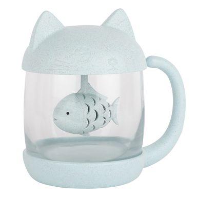 Mug con orejas de gato 250 ml, Pequeña, Azul