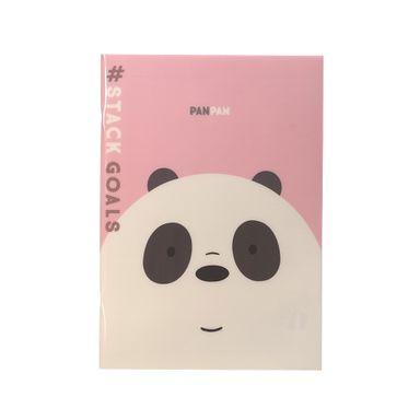 Cuaderno Notas, Pasta Dura 48 Hojas, Osos Escandalosos, Panda