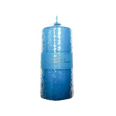 Vela Cilindrica Pure Color, Grande, Azul