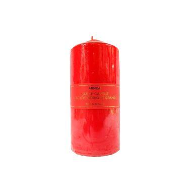 Vela Cilindrica Pure Color, Grande, Rojo Sandia