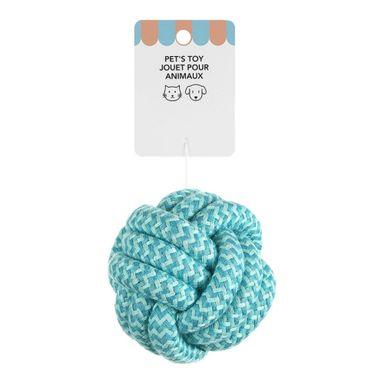 Juguete para Mascota, de Cuerda Forma de Bola, Azul (((6938))) <<<es-CO>>>