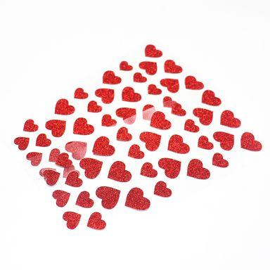 Stickers Forma Corazon, Rojo