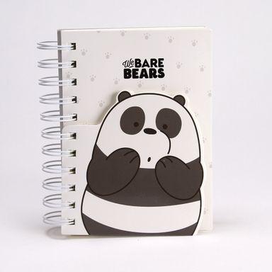 Cuaderno de espiral 170 hojas We Bare Bears, Mediano, Negro