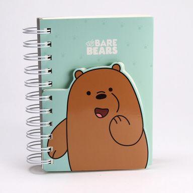Cuaderno de espiral 170 hojas We Bare Bears, Mediano, Verde Menta-Café