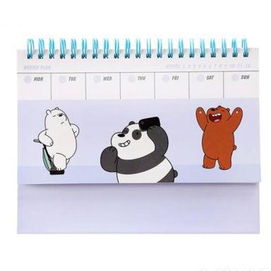Calendario Planificador Semanal Para Escritorio, Osos Escandalosos, Mediano, Azul