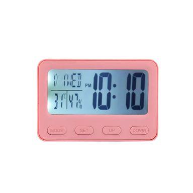 Reloj Despertador Digital 3D Con Luz, Pequeño, Rosa