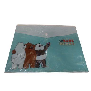 Paquete de 2 carpetas forma sobre A4 We Bare Bears, Grande, Azul