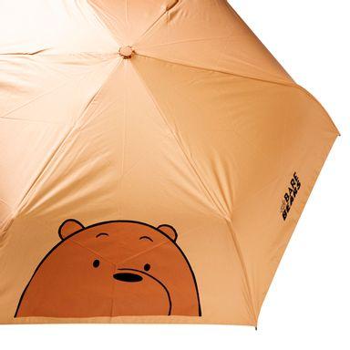 Sombrilla Con Protección Uv Pardo, We Bare Bears, Mediana, Café