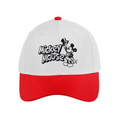 Gorra Blanca De Beisbol, Bordado De Mickey Mouse, Disney, Mediana, Roja
