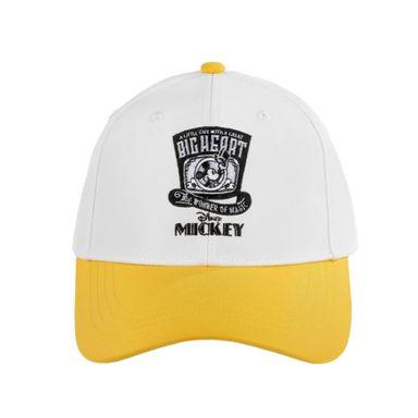 Gorra Blanca De Beisbol, Bordado De Mickey Mouse, Disney, Mediana, Amarilla