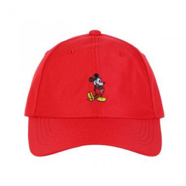 Gorra De Beisbol Bordado, De Mickey Mouse, Disney, Mediana, Roja