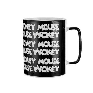 Mug De Ceramica, Mickey Mouse, Disney, Mediano, Negro