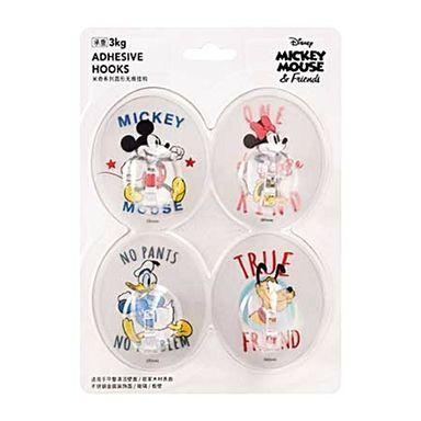 Ganchos Adhesivos Redondos, Sin Costura Mickey Mouse, Disney, Transparante