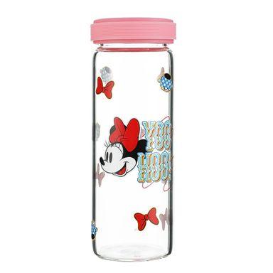 Botella De Vidrio, Minnie Mouse 300Ml, Disney, Mediana, Rosa