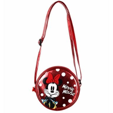 Bolsa Cruzado, Round Minnie Mouse, Disney, Pequeño
