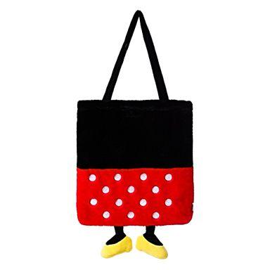 Bolso Bloques De Color, Minnie Mouse Tipo Felpa, Disney, Mediano