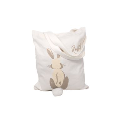 Bolsa Para Compras De Lona, Con Estampado De Conejo, Mediana