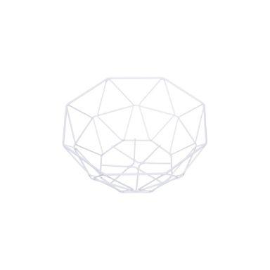 Cesto De Hierro, Geometrico, Blanco