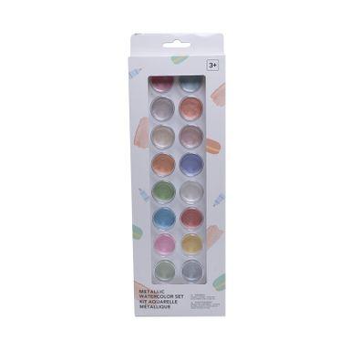 Set De Acuarelas, Colores Metalicos, 18 Pzas