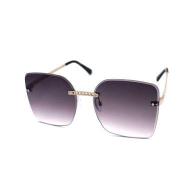Gafas De Sol Para Mujer, De Moda Square Chain, Negras