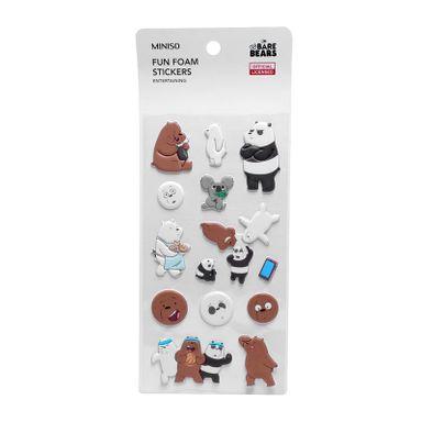 Sticker De Goma, Osos Escandalosos, Koala Panda/Polar/Pardo