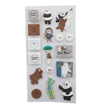 Sticker De Goma, Osos Escandalosos, Niño Panda/Polar/Pardo