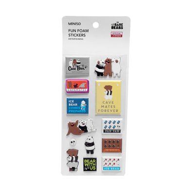 Sticker De Goma, Osos Escandalosos, Bear With Us Panda/Polar/Pardo