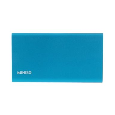 Batería Power bank aleación aluminio 4000 mAh, Mediana, Azul