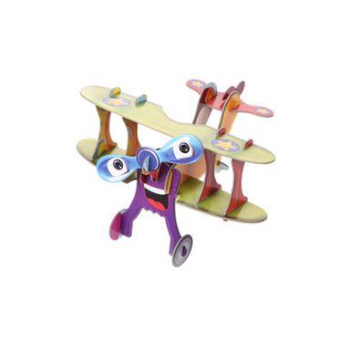 Rompecabezas 3D Avión, Mediano, Multicolor
